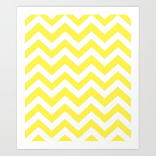 Lemon yellow - yellow color - Zigzag Chevron Pattern by makeitcolorful