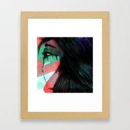 Girl with Tears Framed Art Print