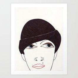 girl in a hat Art Print