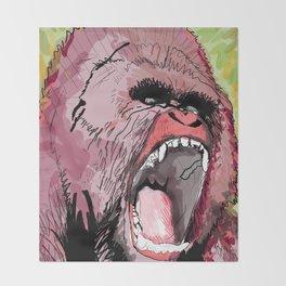 The gorilla  Throw Blanket