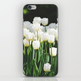 White Tulips iPhone Skin