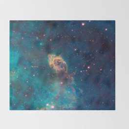 Stellar Jet in the Carina Nebula Throw Blanket