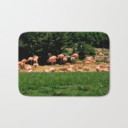 Flock of Flamingos Bath Mat