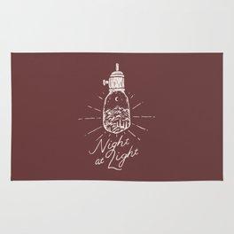 Night at Light Rug