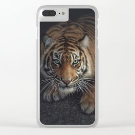 Crouching Tiger Clear iPhone Case