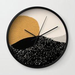 Gold Sun Going Wall Clock