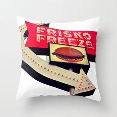 Drive-thru Americana Throw Pillow