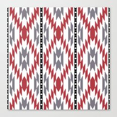 Ethnic rug pattern Canvas Print