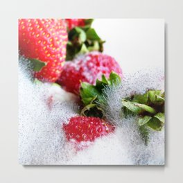 Strawberry Spores Metal Print