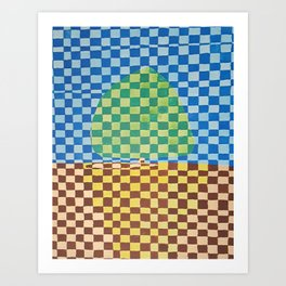 Tree in Field Art Print