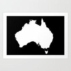 AUSTRALIA NIGHT Art Print