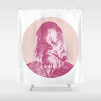 chewbacca Shower Curtains featuring Chewbacca by NJ-Illustrations