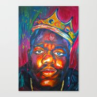 Canvas Prints featuring BIGGIE SMALLS by Molly Forster