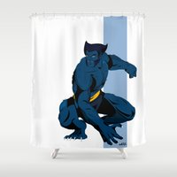 beast Shower Curtains featuring Beast by Andrew Formosa