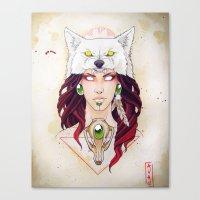 mononoke Canvas Prints featuring Mononoke by Electricalivia