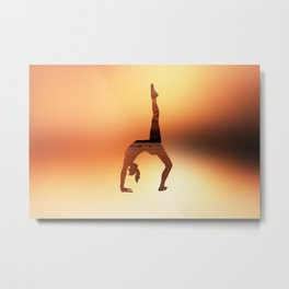 Yoga - One Legged Wheel Pose Metal Print