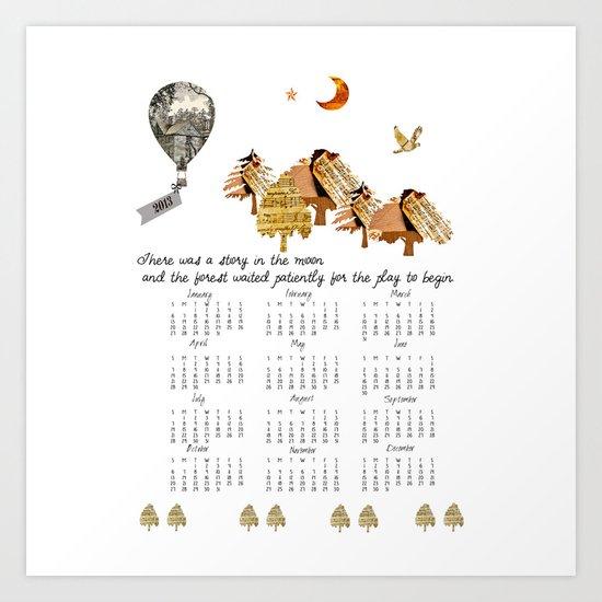 2013 Calendar, Little Women Inspiration Art Print