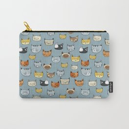 Cat Face Doodle Pattern Carry-All Pouch