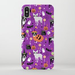 Boston Terrier Halloween - dog, dogs, dog breed, dog costume, cosplay cute dog iPhone Case