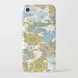 Golden Paisley iPhone Case