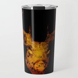 Cervus (Gold Negative Version) Travel Mug