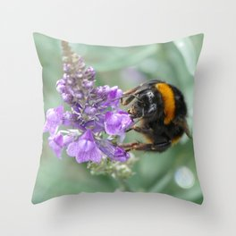 Hello Flower! Throw Pillow