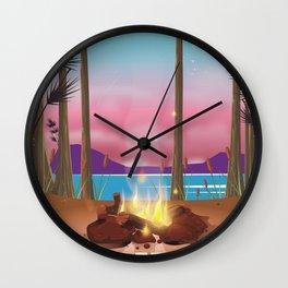 Wonder Lake, Denali national park Alaska Wall Clock