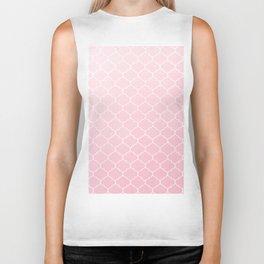 Pink Lattice Pattern Biker Tank