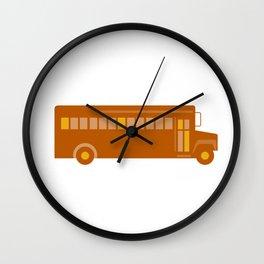 Vintage School Bus Side Retro Wall Clock