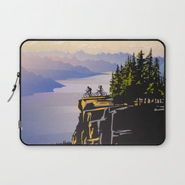 Retro travel BC poster Laptop Sleeve