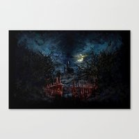castlevania Canvas Prints featuring Castlevania: Vampire Variations- Gates by LightningArts