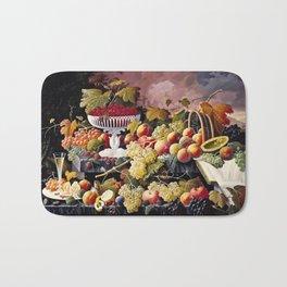 Severin Roesen - Fruit Still Life In A Landscape Bath Mat