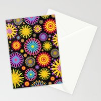 Bright And Colorful Flowers Stationery Cards