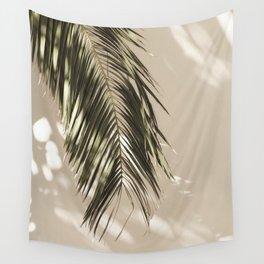 Palm Leaf Shadow Summer Wall Tapestry
