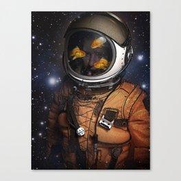 Astronaut and Goldfish Canvas Print