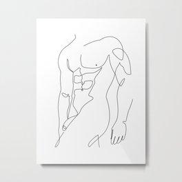 muscle man Metal Print