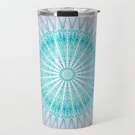 Turquoise Boho Mandala Travel Mug