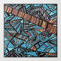 dazed and confused Canvas Prints featuring dazed & confused by Felipe Nogueira