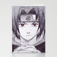 sasuke Stationery Cards featuring Sasuke Uchiha by DeMoose_Art