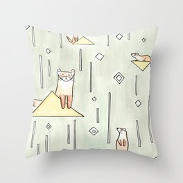 black foot ferret Throw Pillow