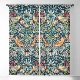 The strawberry thieves pattern by William Morris Blackout Curtain