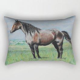 Snowy The Nokota Horse Rectangular Pillow