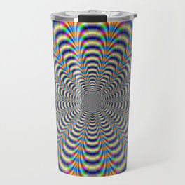 Rosette in Yellow and Blue Travel Mug