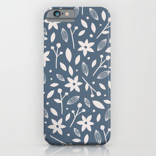 Winter Bloom - in Navy iPhone & iPod Case