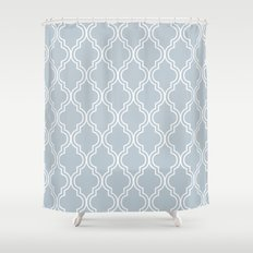 BlueGray Moroccan Shower Curtain