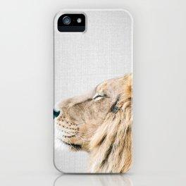 Lion Portrait - Colorful iPhone Case
