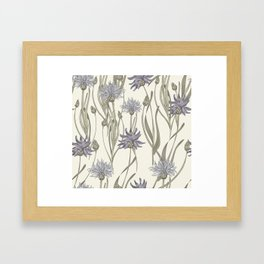 vintage cornflowers Framed Art Print