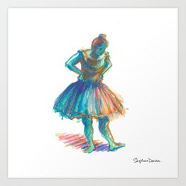 After Degas: Dancers, Pink and Green Art Print