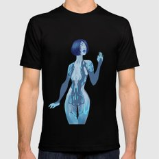 Cortana SMALL Mens Fitted Tee Black