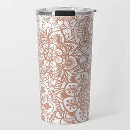Rose Gold Mandala Pattern Travel Mug